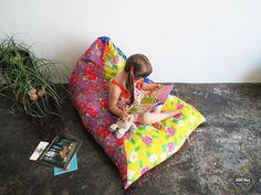 One hour floor cushion | Ohoh Blog - diy and crafts
