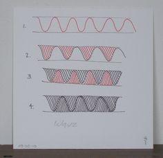 Zentangle: Waves.