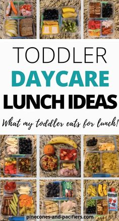 Toddler Daycare Lunch IdeasToddler daycare lunch ideas for young toddlers. sharing simple and easy ideas based on what I pack my 18 month old for lunch at daycare. toddlermeals toddlermealideas Super Easy (and Healthy Toddler Meals, Toddler Snacks, Toddler Menu, Toddler Girl, Healthy Snacks, Healthy Recipes, Daycare Meals, Kids Meals, Baby Meals