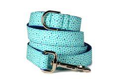 Seaside Polka Dot Dog Leash