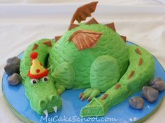 Dragon Cake by mycakeschool.com