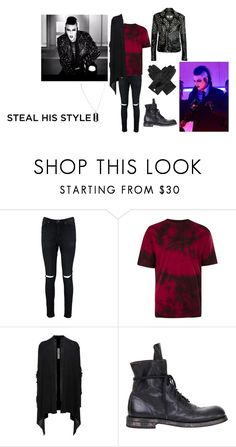 """Steal his look - Chris Motionless - Loud (f*ck it)🖤🦇"" by mackenna-1 ❤ liked on Polyvore featuring Boohoo, Rick Owens, Ann Demeulemeester and Dents"