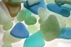 Faux Sea Glass made from polymer clay with the Faux Glass Effects tutorial by The Blue Bottle Tree.