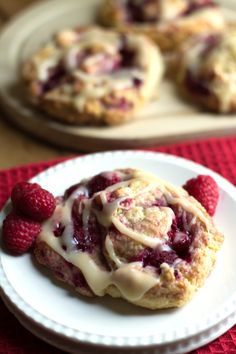 Iced raspberry scones - Great for brunch or breakfast - http://livedan330.com/2016/01/12/iced-raspberry-scones/