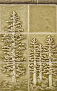 Blumenfliesen grün_grau woodland scene - Pratt & Larson tile for the perfect cabin backsplash How To Craftsman Tile, Craftsman Style Homes, Craftsman Bungalows, Craftsman Houses, Log Home Decorating, Decorating Ideas, Fireplace Design, Fireplace Tiles, Custom Fireplace