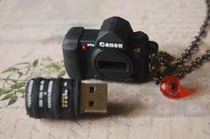 Canon 4g usb flash drive  a mini camera necklace by TuesdayFreya, $25.00