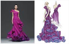 Versace, so pretty, love the ruffles