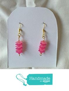 Dark and Light Pink Flower Earrings from Southern Women Crafts http://www.amazon.com/dp/B01CIRM5OG/ref=hnd_sw_r_pi_dp_Ybx.wb0BTTBHH #handmadeatamazon