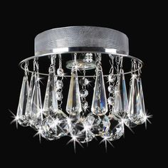 Catherine-Chrome-Flush-Mount-with-Glamorous-Crystals-Chandelier