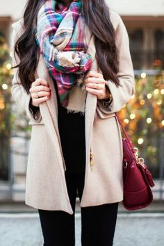 Winter Outfit With Plaid and Oversized Coat