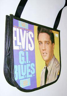 ed3c4962e3 Elvis Presley Record Handbag - GI Blues Vinyl Record Album Purse