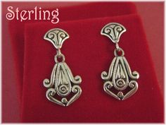Egyptian Revival - Sterling Silver Contemporary Swirl Modernist Earrings - Egypt Cleopatra Silversmith Jewelry - Gift Boxed - FREE SHIPPING by FindMeTreasures on Etsy