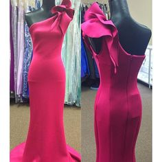 Evening Dress,Long Evening Dresses,One shoulder Formal Dress,Pink Formal Gown,Women Dress,Princess Prom Gowns,Pink prom gown