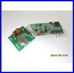 RF wireless receiver module & transmitter module board super regeneration 433MHZ DC5V (ASK /OOK) 1pair =2pcs
