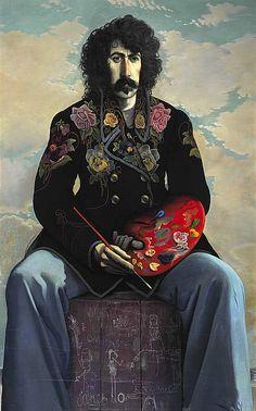 John Patrick Byrne, b. 1940. Artist, dramatist and stage designer (Self-portrait in a Flowered Jacket)