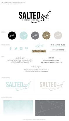Salted-Ink-Final-Brand-Board from Saffron Avenue Corporate Design, Graphic Design Branding, Identity Design, Typography Design, Visual Identity, Brand Identity, Web Design, Blog Design, Brand Design