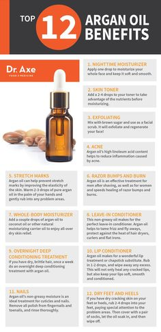Top 12 Argan Oil Benefits for Skin & Hair http://www.draxe.com #health #holistic #natural: