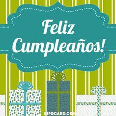 Cliquez ici - Click card to view animation. Happy Birthday, Birthday Wishes, Birthday Gifs, Spanish Birthday Cards, Animation, Text Messages, Ecards, Congratulations, Social Media