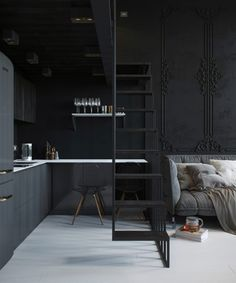 A small and dark apartment in Russia…