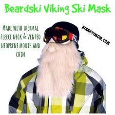 Beardski Blond Viking Ski Mask Only $24.99 #GiftIdea #GiftForSkiers #GiftForSnowboarders