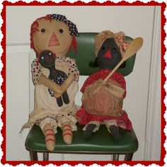 Handmade Country Dolls - Folk Art, Country Primitive Doll, Raggedy ...