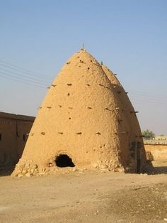 Beehive houses near Al Hamra, Syria