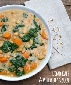 Dino Kale and White Bean Soup - This crockpot soup comes together in minutes and is so comforting, especially after a long day. Serve with crusty bread for dipping. We nourish communities by delivering organic produce from local farms conveniently to your doorstep. Always use promo code TRYME15 for $15 off your first box.