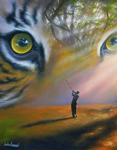 Tiger in the Woods - by Jim Warren