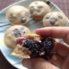 brazil nut: Muffins veganos de amora