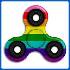 Gay Rainbow Flag Fidget Spinner Stress Reducer Toys Tri-Spinner Hand Toy Finger Gyro - Fidget spinner (*Amazon Partner-Link)