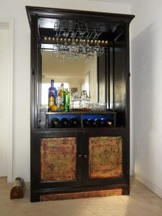 15 Best Armoire Bar Ideas Ever – Modern Home Entertainment Center Kitchen, Entertainment Room, Upcycled Furniture, Painted Furniture, Refurbished Furniture, Armoire Bar, Tv Decor, Home Decor, Restaurant