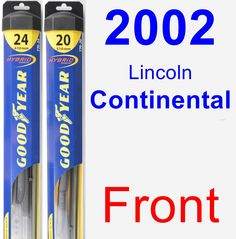Front Wiper Blade Pack for 2002 Lincoln Continental - Hybrid