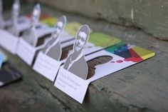 Clifton Alexander's 3D Creation Features a Pop-Up Self-Portrait #businesscards #design trendhunter.com