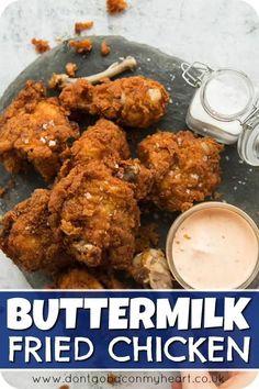 Buttermilk Fried Chicken, Fried Chicken Recipes, Meat Recipes, Indian Food Recipes, Dinner Recipes, Cooking Recipes, Healthy Recipes, Recipe Chicken, Chicken Fried Chicken