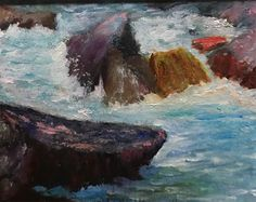 """Rushing Water   8"""" x 10""""   Oil Painting   If Interested, email me at lamerledeca@gmail.com"""