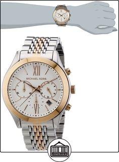 Michael Kors MK5763 - Reloj cronógrafo de cuarzo para mujer, correa de acero inoxidable multicolor  ✿ Relojes para mujer - (Gama media/alta) ✿