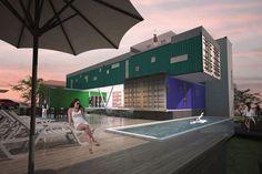 Área interna - Lazer. CASAFOZ DESIGN - A CASA CONTAINER, ##design