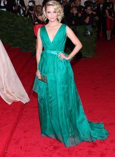 Dianna Agron in Carolina Herrera at the Met Gala