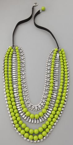 Add a pop of color with a neon accessories. #VegasGlam