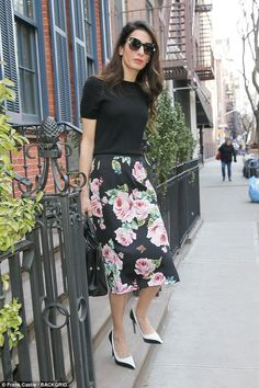 Floral fancy: And once again, the 40-year-old legal eagle pulled it out of the sartorial b...