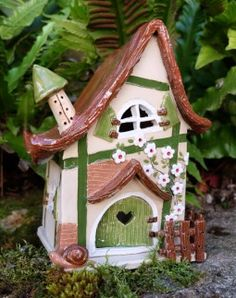 New page - Trend Garden Decoration Clay Fairy House, Gnome House, Fairy Houses, All Mario Games, Pottery Houses, Polymer Clay Fairy, Clay Fairies, Most Beautiful Gardens, Sculpture Clay