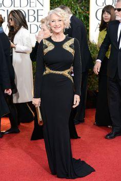 2013 Golden Globes Red Carpet Helen Mirren