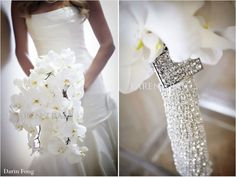 Must bling out my flower bouquet! Love this!