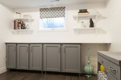 d i y d e s i g n: Upcycled Shaker-Panel Cabinet Doors ~ this would be great for the basement for storage