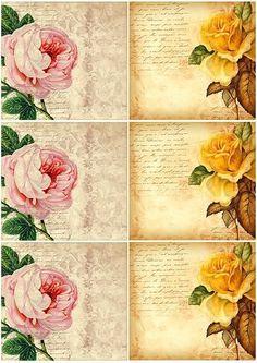 Vintage Flower Card Free Printable by gabby.1995