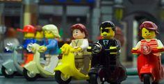 little Lego Vespa scooters