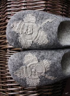 Pretty felted slippers