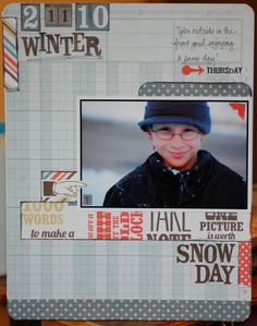 Snow Day - Scrapbook.com