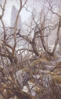 Alan Lee - The Stairs of Amon Hen
