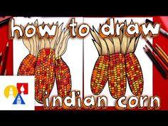 cool How To Draw Indian Corn (Flint Corn)